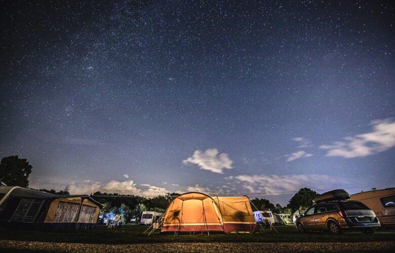 Abendstimmung auf dem Campingplatz